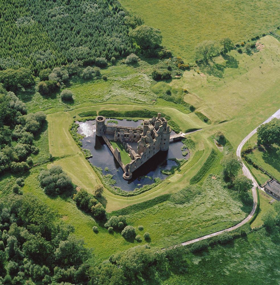 Caerlaverock Castle, Dumfries and Galloway 1972