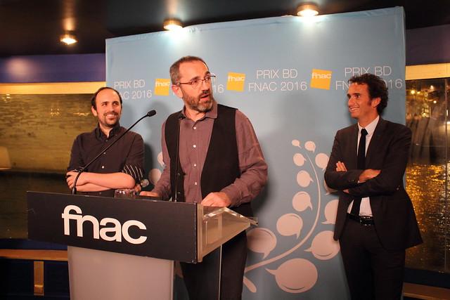 Benjamin Renner, Wilfrid Lupano, Alexandre Bompard - Prix BD Fnac 2016