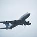 ua flight 2143 departing in a rain storm to xiamen, china