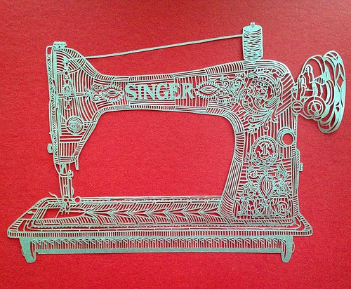 Singer Sewing Machine Paper Cutting - Pretty Paper Dreams