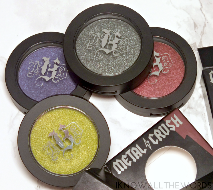 kat von d metal crush eyeshadow electric warrior, danzing, black no 1, raw power (4)