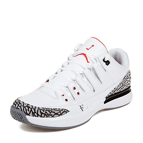 "quality design 9c15a 56ba7 Nike Mens Zoom Vapor AJ3 ""Roger Federer"" White/Fire Red-Ce ..."