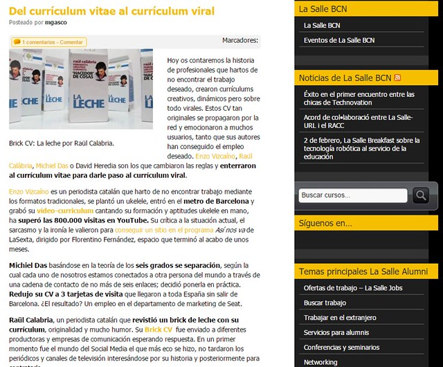Artículo en blog - La Salle (25.06.2014) - castellano