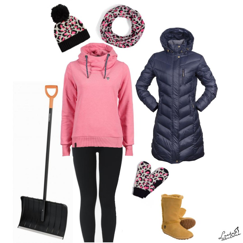 Outfit for snow shoveling