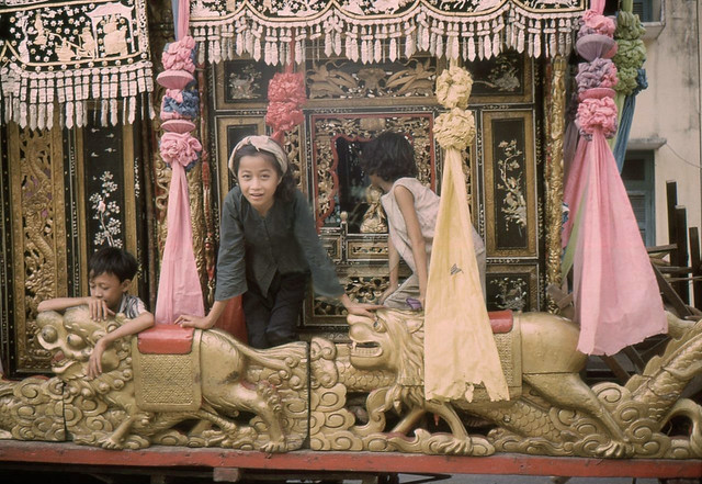 SAIGON 1960s - Chinese Funeral Carriage - Curious Children