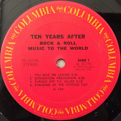 TEN YEARS AFTER:ROCK & ROLL MUSIC TO THE WORLD(LABEL SIDE-A)