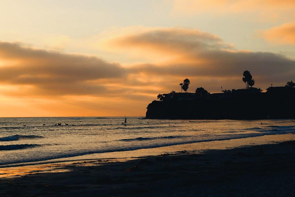 Sonnenuntergang in San Diego am Strand