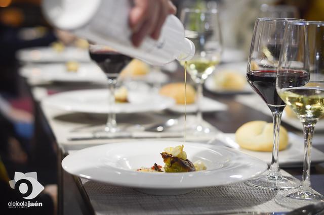 Cena Maridaje Oleícola Jaén AOVE en Tinta Fina Gastrobar