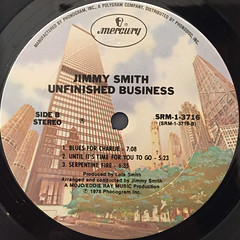 JIMMY SMITH:UNFINISHED BUSINESS(LABEL SIDE-B)