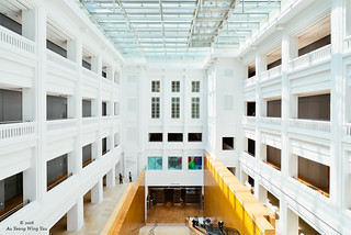 Singapore National Gallery: Interior Courtyard 1