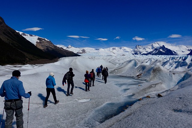 On top of the glacier