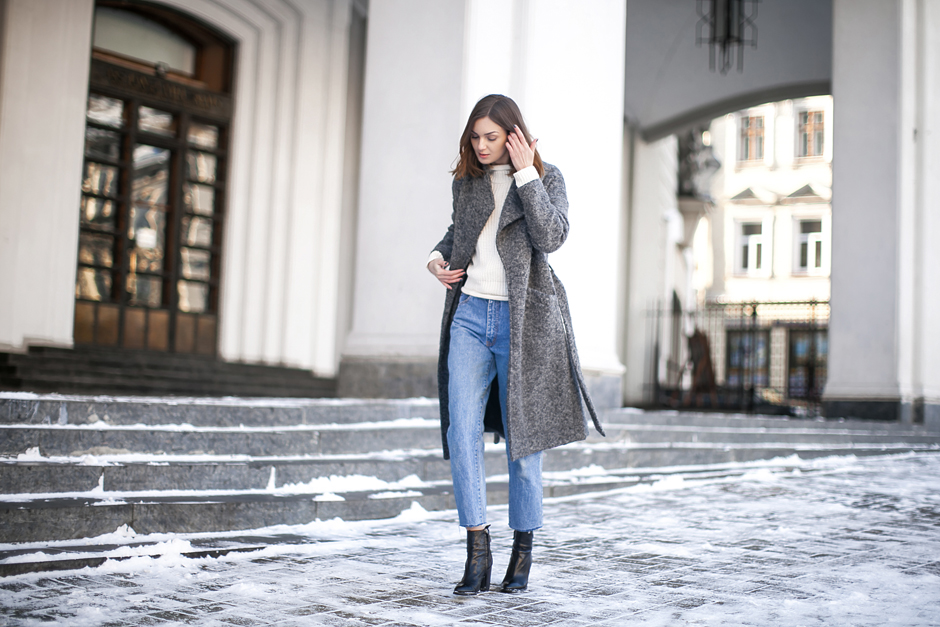 how-to-wear-gray-coat-outfit-ideas