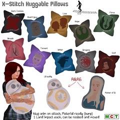 X-Stitch Huggable Pillows
