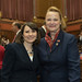 Reps. Rosa C. Rebimbas and Kathleen McCarty on the opening day of the 2016 legislative session on Wednesday, February 3rd.