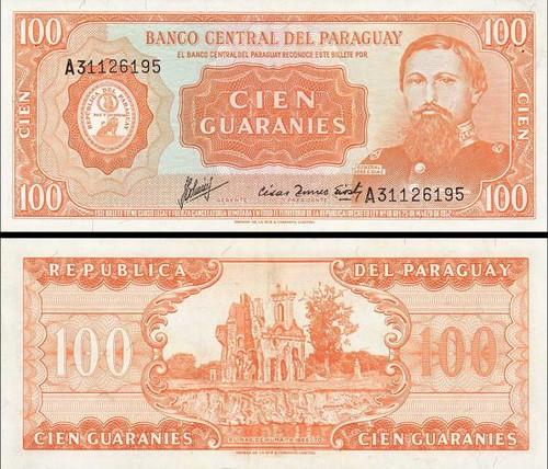 100 Guarani Paraguaj 1952, P199b UNC