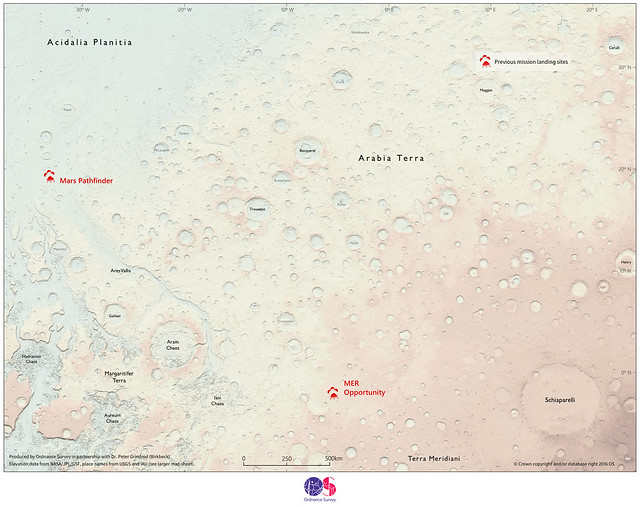 Ordnance Survey map of Mars (reduced version)