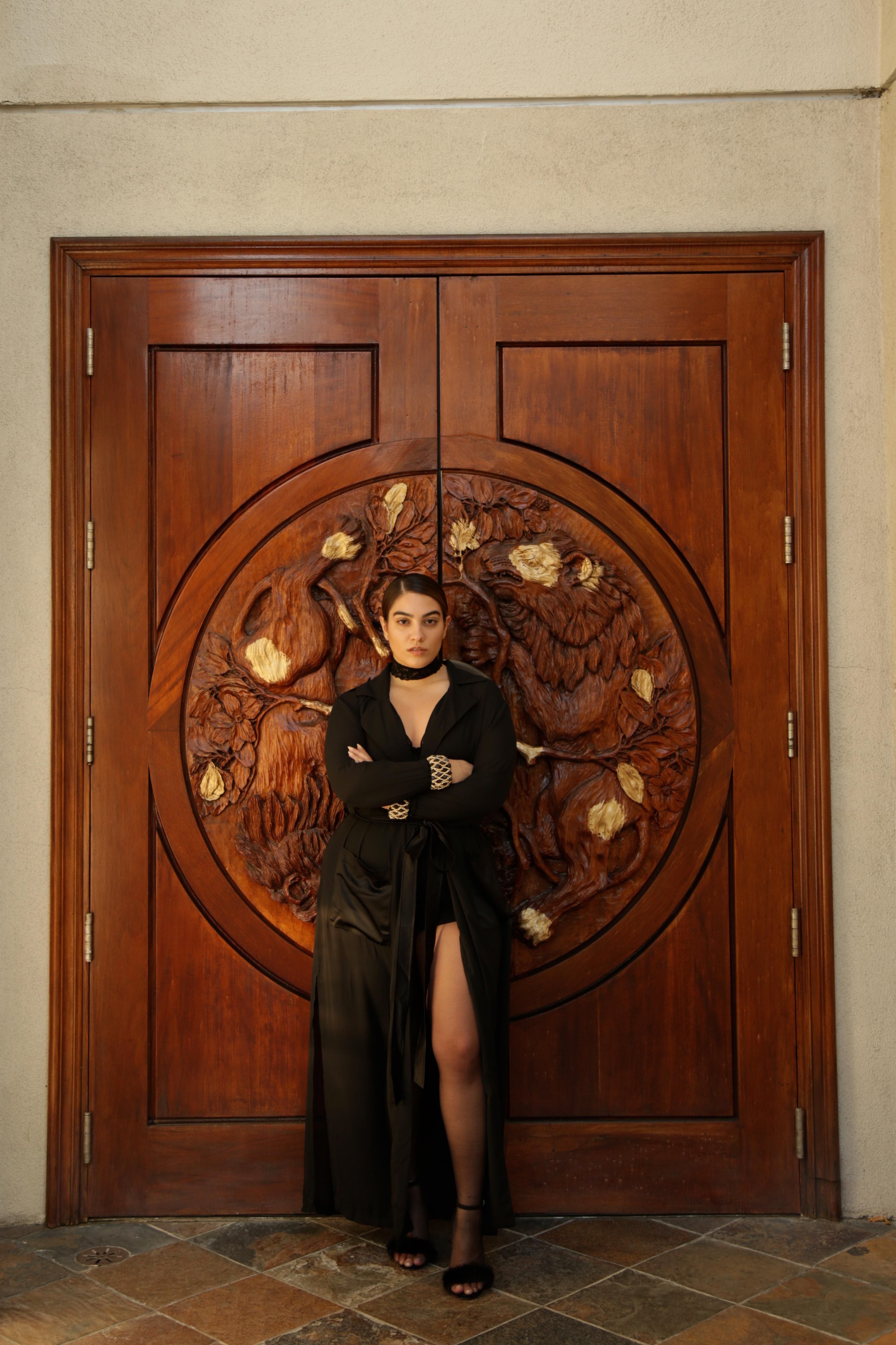 nadia aboulhosn black dress