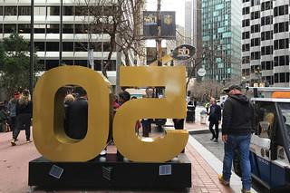 Super Bowl City - Market St scene