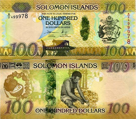 SOLOMON SALOMON ISLANDS 100 dollars 2015 Hybrid