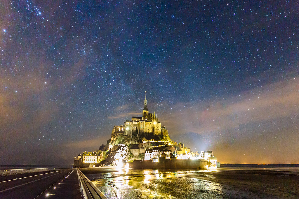 Mont Saint-Michel under the Milky Way