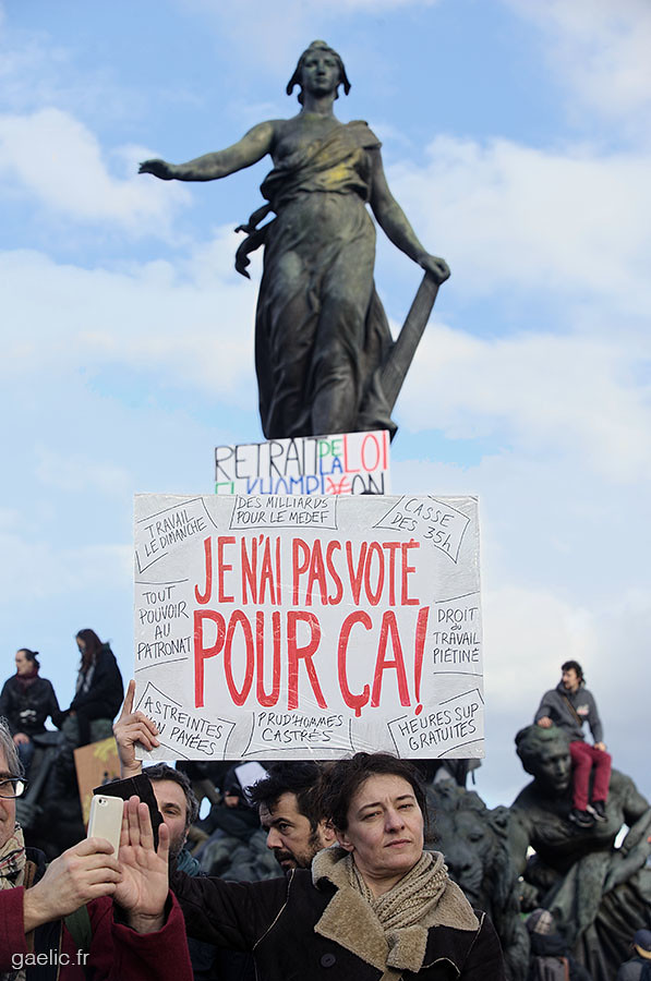 2016-03-09 #France #Paris Je n'ai pas voté pour ça #LoiTravail #LoiTravailNonMerci #OnVautMieuxQueCa #LoiElKhomri #manifestation #photojournalism #report #street #portrait #politics #social #society #urban #demonstration