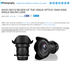 Nicky Bay's Review of the Venus Optics 15MM Wide Angle Macro Lens