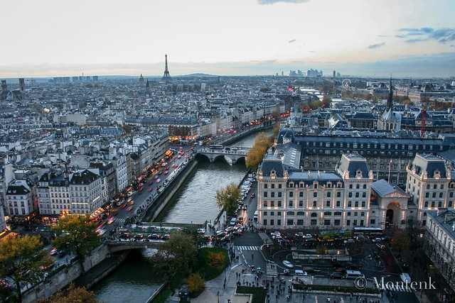 The city from Notredame, Paris, France (2014)
