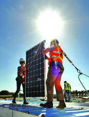 Day 5 of construction at the U.S. Department of Energy Solar Decathlon