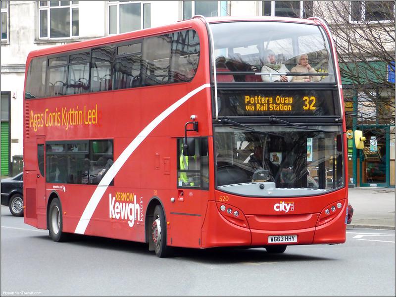 Plymouth Citybus 520 WG63HHY