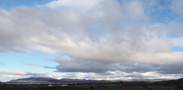 View of SW Lake District as leave Barrow