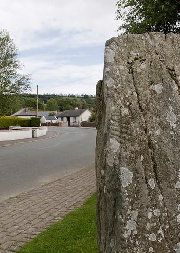 Donard Ogham Stone, close