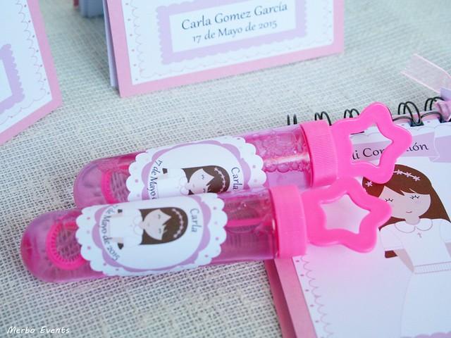 pomperos personalizados comuniones niñas