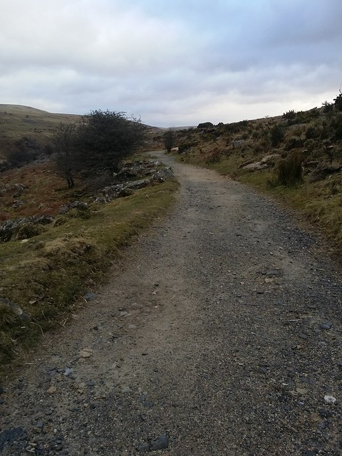 Track out of Belstone above the River Taw