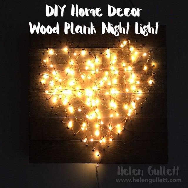 DIY Home Decor: Wood Plank Night Light | Helen Gullett @ Living My Given Life | http://wp.me/p1DmW0-2h6 | #creatingjoyfully #diy #woodplank #homedecor #NationalCraftMonth #jillibeansoup