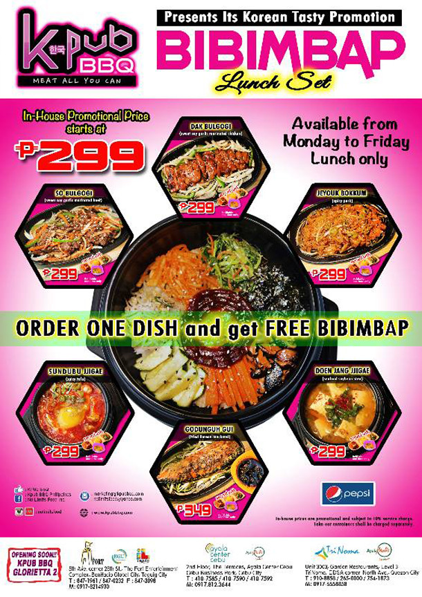 KPub Bibimbap Lunch Set Poster