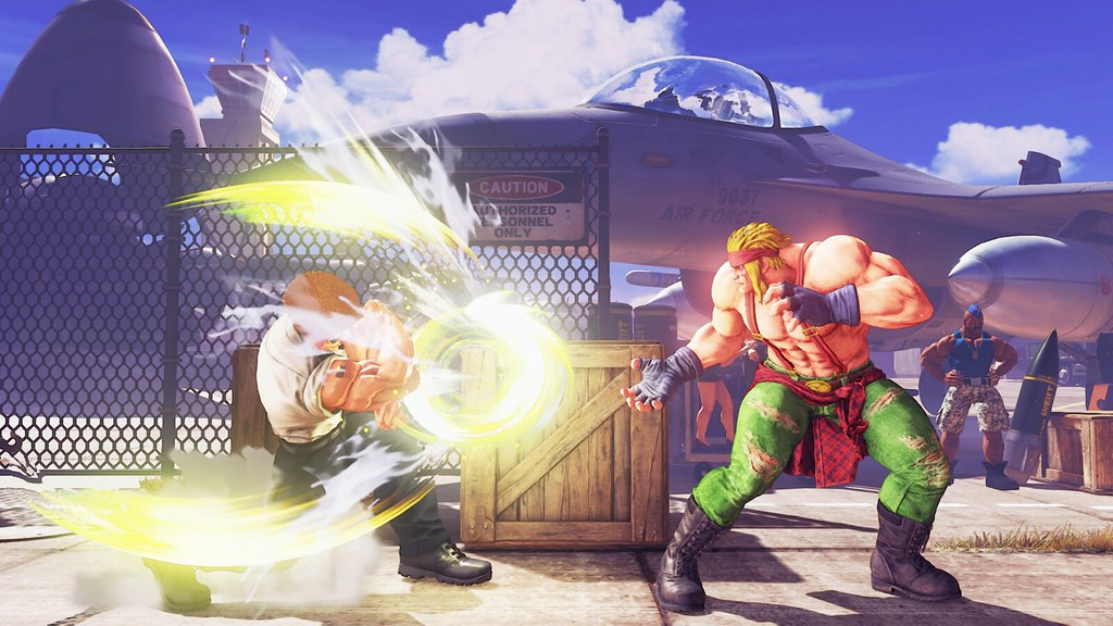 Guile in Street Fighter V: V-Skill