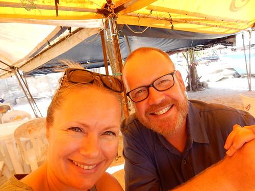 Cancun - eten onder de luifel op het strand