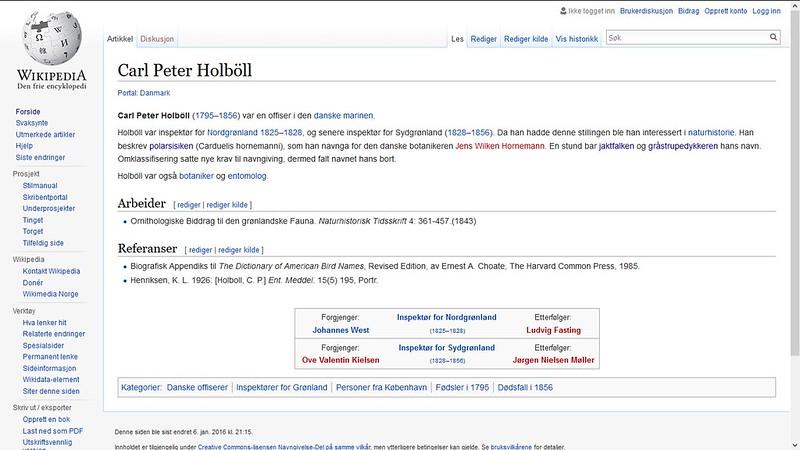 holbøll fugler etc wiki