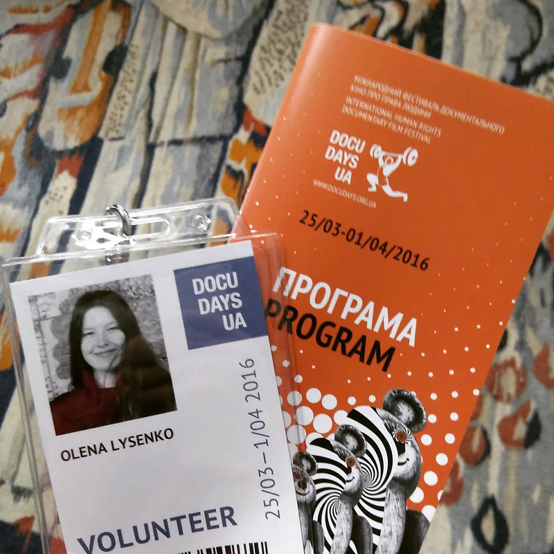 Docudays UA film festival Kiev Kyiv volunteer