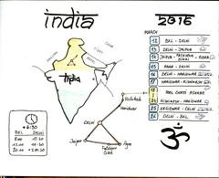 Sketchnotes from India -  my itinerary