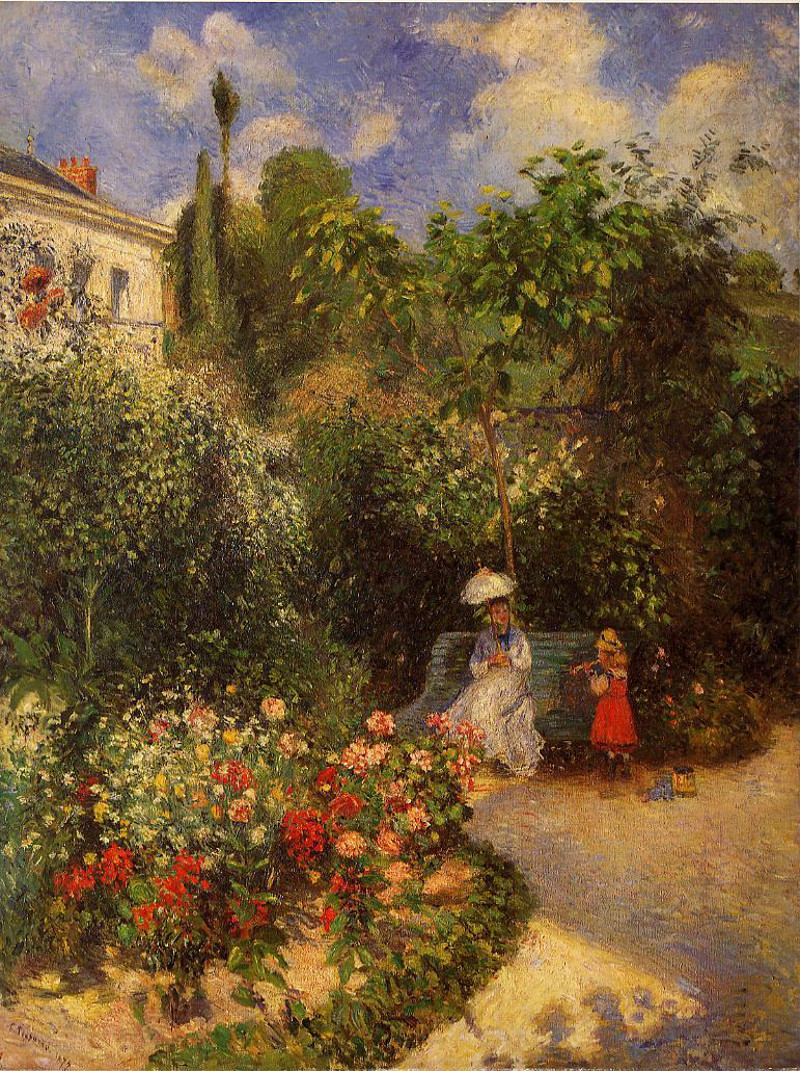 The Garden at Pontoise by Camille Pissarro, 1877