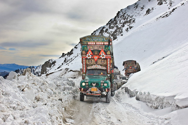 Trucks over Lowari pass