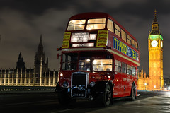 London Busses by Night 2015