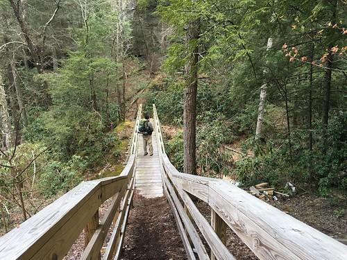 David on the big bridge near Bark Camp