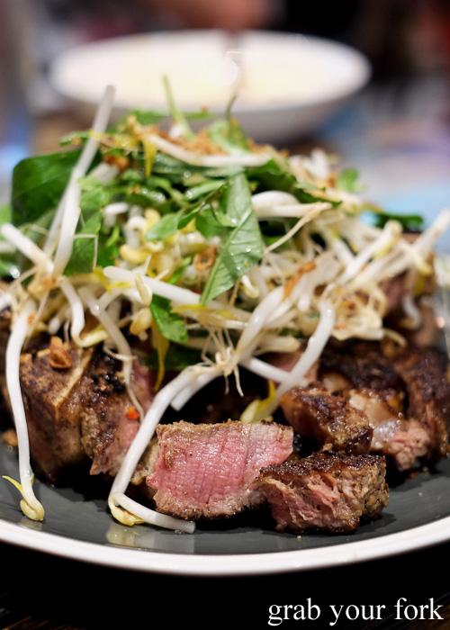 Lemongrass marinated T-bone with Vietnamese salad at Yang and Co Castlecrag