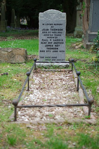 Grave of  Jean Thomson Harris