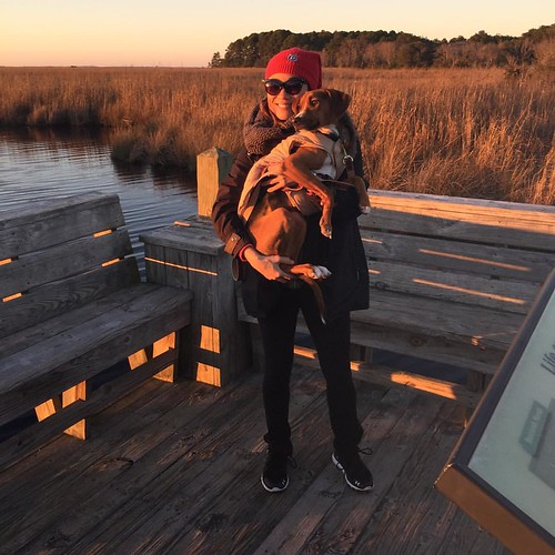 Frasier Simone and me during sunset on the Currituck Sound, Corolla, NC