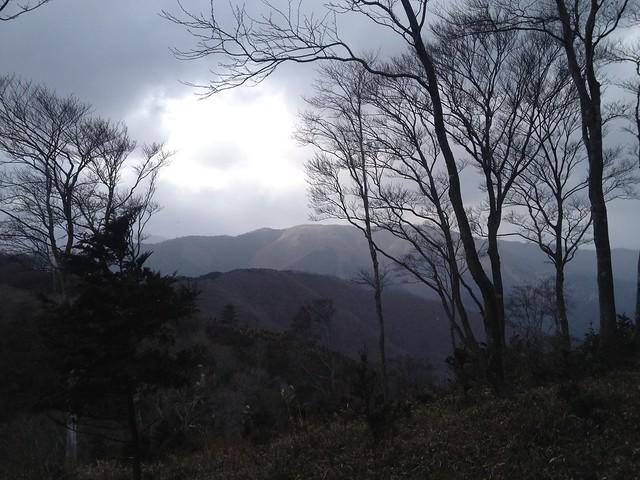 ムネ山山頂から奥谷山・鍋倉山方面