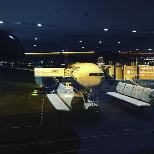 時刻通りにフライトできそう。 福岡寒いかなぁ。