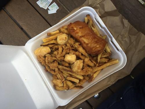 Mei's seafood platter.